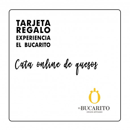 TARJETA REGALO CATA ONLINE DE QUESOS