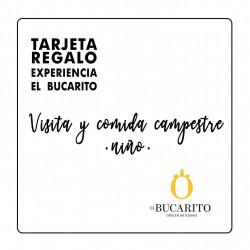 TARJETA REGALO VISITA Y COMIDA CAMPESTRE - Niños